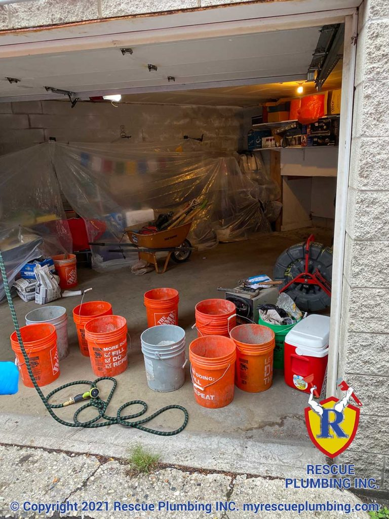 rescue-plumbing-lincoln-park-garage-sewer-clean-out-install-3